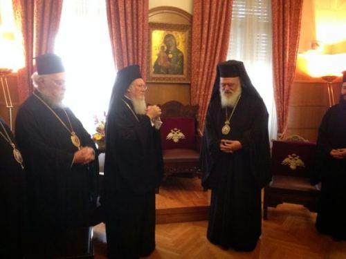 Συνάντηση Βαρθολομαίου-Ιερώνυμου στην Αρχιεπισκοπή (ΦΩΤΟ)