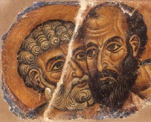 Ο εναγκαλισμός των αποστόλων Πέτρου και Παύλου
