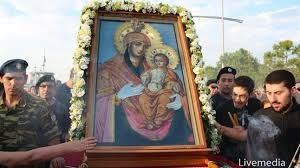 Впервые чудотворный образ Богородицы Святогробской доставлен из Иерусалимского Патриархата в Салоники