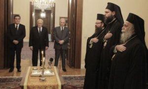В Афинах прошла церемония принесения присяги новых митрополитов Гревены, Мегара и Н. Ионии (ФОТО)