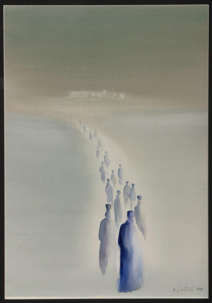 2 Τζιόρτζε Πέτροβιτς, Λιτανεία, 1998 (συλλογή Αγιορειτικής Πινακοθήκης).jpg