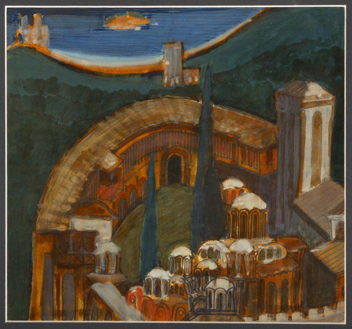 4  Ντράγκομιρ Τοντόροβιτς, Χιλανδάρι II, 1998 (συλλογή Αγιορειτικής Πινακοθήκης).jpg