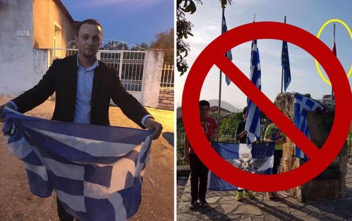 Αλβανία: Ποδοπάτησαν την ελληνική σημαία (ΦΩΤΟ)
