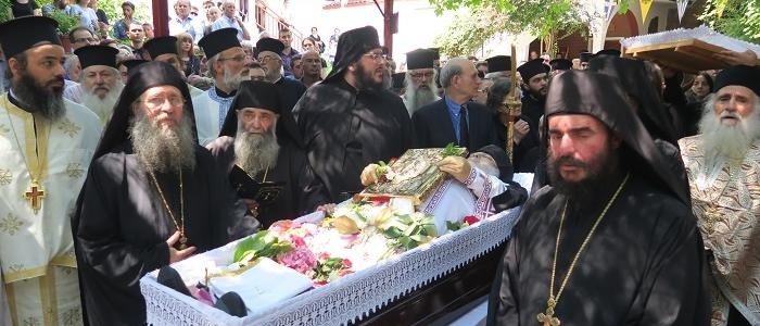 Εξόδιος Ακολουθία Δαμασκηνού: Στο μοναστήρι του αναπαύεται ο ηγούμενος της Μονής Αγάθωνος