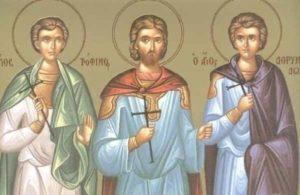 Αγιοι Τρόφιμος, Σαββάτιος και Δορυμέδων – Γιορτή σήμερα 19 Σεπτεμβρίου – Ποιοι γιορτάζουν