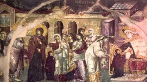 Η περιγραφή της εικόνας των «Εισοδίων της Θεοτόκου»