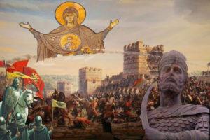 Ο Κωνσταντίνος Παλαιολόγος συναντά την Παναγία