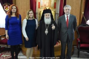 Συνάντηση του Πατριάρχη Ιεροσολύμων με τον Σταύρο Κοντονή (ΦΩΤΟ)