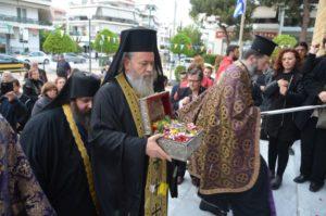 Το Περιστέρι υποδέχθηκε την Τιμία Κάρα του Αγίου Παρθενίου (ΦΩΤΟ)