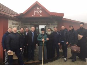 Αγιον Ορος: Ο Πρόεδρος της Μολδαβίας στο κελλί Μαρουδά