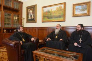 Συνάντηση του Βολοκολάμσκ Ιλαρίωνα με εκπροσώπους της Εκκλησίας της Γεωργίας (ΦΩΤΟ)