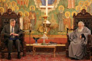 Αποχαιρετιστήρια συνάντηση του Αμερικανού Πρέσβη με τον Πατριάρχη Γεωργίας (ΦΩΤΟ)