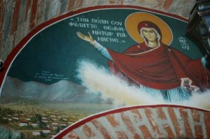 Η Παναγία θύμιαζε στη Μεγίστη Λαύρα