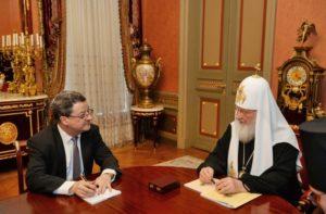 Συνάντηση του Πατριάρχη Κυρίλλου με τον Πρέσβη της Ελβετίας στη Ρωσία (ΦΩΤΟ)