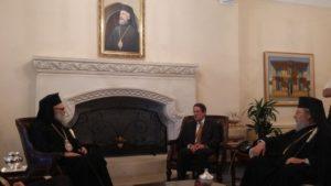 Ο Αντιοχείας Ιωάννης στον Πρόεδρο της Κύπρου (ΦΩΤΟ)