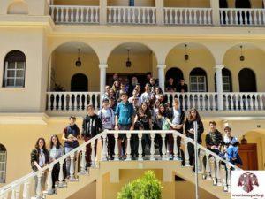 Με μαθητές από τη Μυτιλήνη συναντήθηκε ο Σπάρτης Ευστάθιος (ΦΩΤΟ)