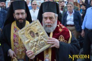 Καλαμάτα: Πλήθος κόσμου στην υποδοχή της Παναγίας Βουλκανιώτισσας (ΦΩΤΟ)