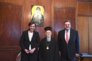 Στο Φανάρι η Ντόρα Μπακογιάννη- Συζήτηση με τον Οικ.Πατριάρχη για επίκαιρα θέματα (ΦΩΤΟ)