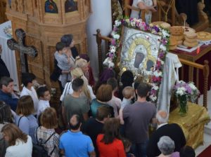 Κύπρος: Υποδοχή Θαυματουργού Εικόνος Παναγίας «Βουρλιωτίσσης» (ΦΩΤΟ)