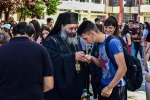 Ο Λαγκαδά Ιωάννης κοντά στους υποψηφίους των εξετάσεων (ΦΩΤΟ)