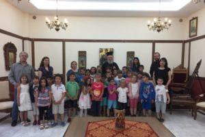 Μαθητές Δημοτικού επισκέφθηκαν τον Χαλκίδος Χρυσόστομο (ΦΩΤΟ)