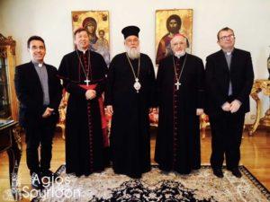 Επίσκεψη του Αποστολικού Νούντσιου στον Μητροπολίτη Κερκύρας (ΦΩΤΟ)