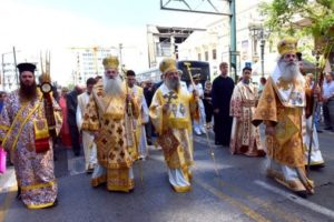Λαμπρός ο εορτασμός των Αγίων Κωνσταντίνου και Ελένης στον Πειραιά (ΦΩΤΟ)