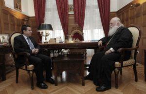 Συναντήσεις του Αρχιεπισκόπου με τον Νότη Μηταράκη και φορείς (ΦΩΤΟ)