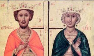 Αγίου Κωνσταντίνου και Αγίας Ελένης: Θαυμαστή εμφάνιση της Αγίας Ελένης