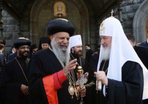 Συνάντηση του Μόσχας Κυρίλλου με τον επικεφαλή της Εκκλησίας της Αιθιοπίας (ΦΩΤΟ)