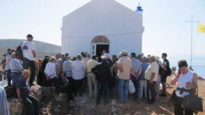 Ο Αρχιεπίσκοπος Ειρηναίος στο νησάκι Ντία γα την εορτή της Αναλήψεως (ΦΩΤΟ)