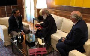 Ο Αλεξανδρείας Θεόδωρος στο Μέγαρο Μαξίμου – Τι συζήτησε με τον Αλ.Τσίπρα (ΦΩΤΟ)