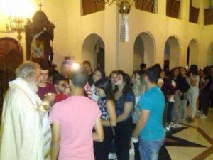 Νυχτερινή Θεία Λειτουργία για τους μαθητές από τον Αρκαλοχωρίου Ανδρέα (ΦΩΤΟ)