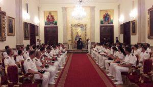 Στον Αλεξανδρείας Θεόδωρο Αξιωματικοί του Πολεμικού μας Ναυτικού (ΦΩΤΟ)