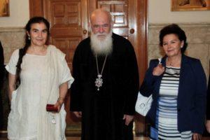 Με την Λυδία Κονιόρδου συναντήθηκε ο Αρχιεπίσκοπος (ΦΩΤΟ)