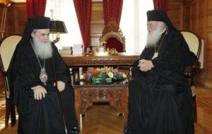 Συνάντηση του Αρχιεπισκόπου με τον Ιεροσολύμων Θεόφιλο (ΦΩΤΟ)