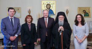 Συνάντηση του Αρχιεπισκόπου Δημητρίου με την ηγεσία της Ελληνικής Αστυνομίας (ΦΩΤΟ)