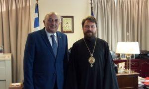 Στην Αθήνα ο Βολοκολάμσκ Ιλαρίων – Συναντήθηκε με τον Γιάννη Αμανατίδη