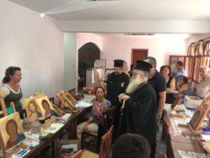 O Ιεραπύτνης Κύριλλος στη Σχολή Αγιογραφίας της Μητροπόλεως (ΦΩΤΟ)