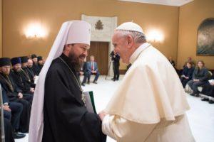 Φραγκίσκος προς Ιλαρίωνα: «Η Ρωμαιοκαθολική Εκκλησία ουδέποτε θα προκαλέσει διχασμούς»