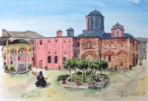 Εκθεση Βρετανού ζωγράφου για το Αγιο Ορος στις Σέρρες