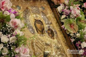 Αντίγραφο της Εικόνας της Παναγίας Βηματάρισσας από το Αγιο Ορος στη Βέροια