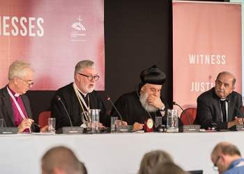 """1 June 2018, Novi Sad, Serbia: Hospitality plenary. The Conference of European Churches General Assembly takes place on 31 May - 6 June 2018, in Novi Sad, Serbia. More than 400 delegates, advisors, stewards, youth, staff, and distinguished guests take part in the 2018 General Assembly and related events. Gathered together under the theme, """"You shall be my witnesses,"""" the assembly forges the path for CEC for the coming five-year period and beyond. Of central concern is the future of Europe in light of economic, political, and social crises and how the churches will live out a vision of witness, justice, and hospitality within this context."""