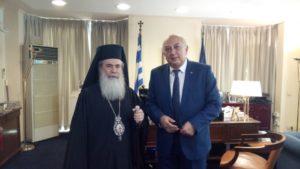 Στο επίκεντρο η περιουσία του Πατριαρχείου Ιεροσολύμων στη συνάντηση Αμανατίδη-Θεόφιλου