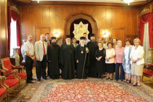 Στον Οικ.Πατριάρχη αντιπροσωπεία του Συνοδικού Γραφείου Προσκυνηματικών Περιηγήσεων (ΦΩΤΟ)