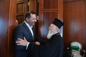 ΦΑΝΑΡΙ: Ο Υπουργός Εσωτερικών της FYROM στο Οικουμενικό Πατριαρχείο