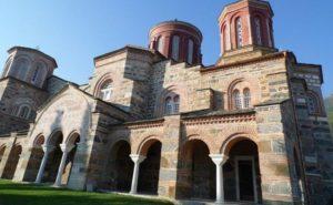Η εικόνα του Αγίου Σεραφείμ του Σαρώφ, από την Αγιορείτικη Ρωσική Μονή, στο Ι.Η.Τιμίου Προδρόμου Ακριτοχωρίου