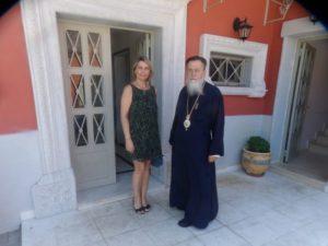 Η βουλευτής Κατερίνα Παπακώστα στον Κορίνθου Διονύσιο