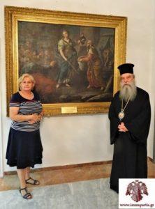 Δωρεά πίνακα του 18ου αιώνα στην Ιερά Μητρόπολη Σπάρτης (ΦΩΤΟ)