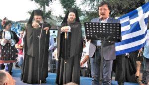 Οι Μητροπολίτες Τρίκκης και Σταγών σε συλλαλητήριο για την Μακεδονία